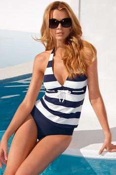 Bold stripe tankini #bostonproper #swim2014