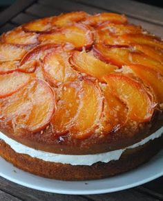 Coconut Peach Upside Down Cake.
