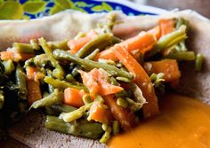 Fasolia ny the bereberediaries via buzzfeed: String beans sauteed with carrots and caramelized onions. #Green_Beans #Ethiopian