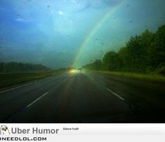 For the first time in my life I saw the end of a rainbow.