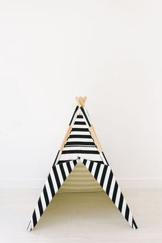 PREORDER 3 WEEKS SHIPPING all black and white striped teepee