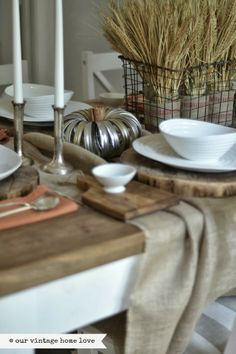 our vintage home love, tablescape