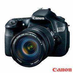 Compre já a sua Câmera Digital Profissional Canon EOS 60D com 18MP, Tela LCD 3.0″ e Digic 4 + Lente Canon EF-S 18-200 IS, por R$ 6.356,55.