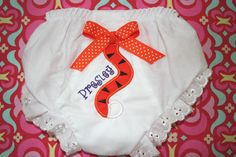 Tiger Tail Baby Bloomer with name by melissatiller on Etsy, $15.00