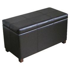 Storage Ottoman Black | $80