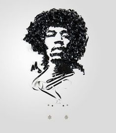 Jimi Hendrix made with tape