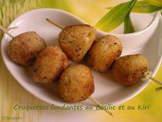 Sucettes/Brochettes fondantes au Basilic et #kiri ! #kiri #recette #enfant #apero #brochette #sucette #gourmand