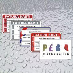 10 Adet Plastik PVC Fatura Kartı