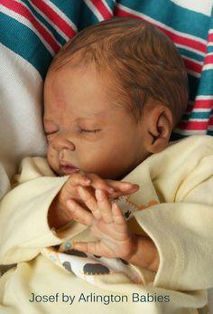 Realistic Ethnic AA preemie reborn boy Josef Bonnie Brown Daisy kit ADORABLE