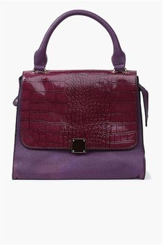 Top Handle Purse in Burgundy and Plum