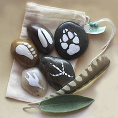 Spirit stones   I'm making these to go on our nature table.