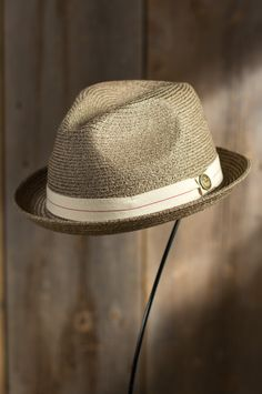 Humphrey Goorin Brothers Crushable Straw Fedora Hat #79772