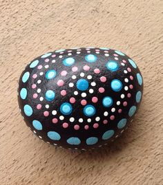 Hand painted rock stone / dotted / personalized by StudioCreARTiv, €8.90