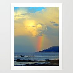 Rainbow on the Coastal Town Art Print by DanByTheSea @society6 #society6 #products #design #shop #shopping #buy #sale #fun #gift #idea #accessory #accessories #home #decor #style #fashion #art #digital #contemporary #cool #hip #awesome #awesomeness #chic #fashion #style #rainbow #clouds #sky #nature #planet #earth #nautical #water #sea #ocean #color #photography #photo