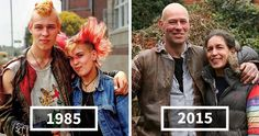 In the 1970s, 80s, and 90s, street photographer Chris Porsz spent hours walking around the city of Peterborough, Cambridgeshire (Great Britain), capturing hundreds of amazing characters. Now, almost 40 years later, Porsz has tracked down those same people to recreate their pics, resulting in 135 beautiful reunions.