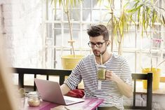Hipster working as freelancer photo by bialasiewicz on Envato Elements