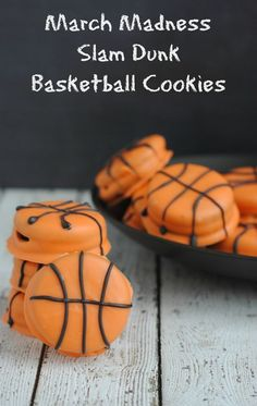 March Madness children's activities | March Madness Recipe: Easy Slam Dunk Basketball Cookies