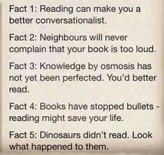 Reading may save your life!-