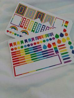 Rainbow Week Set   New stickers in my etsy shop. www.etsy.com/shop/LynnsCraftyBoutique