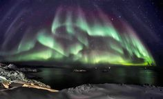 Sisimiut, Greenland. Northern Lights / Nordlys