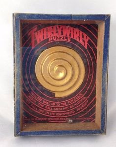 Vintage TwirlyWirly Puzzle Game Hand Held Dexterity R Journet & Co London