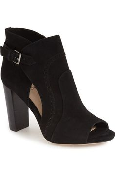 Vince Camuto 'Conley Buckle' Open Toe Bootie (Women) available at #Nordstrom