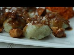 Kluski z tartych ziemniaków szybki przepis - YouTube Dumplings, Lunch Recipes, Baked Potato, Pierogi, Potatoes, Pasta, Baking, Dinner, Ethnic Recipes