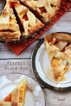 The perfect Peach Pie, ready and waiting for you to enjoy after dinner! Nothing fancy in this easy southern style recipe.