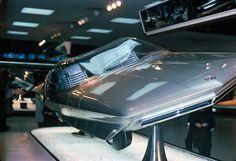 GM Firebird IV on display at GM's Futurama at the 1964 New York World's Fair in 1964