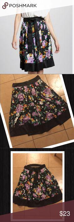 Beautiful Floral Skirt  Gorgeous Skirt w/Belt  Lightly Pleated  Hidden side zipper  Waist 15'  Length 23.5' Firm Price on Retail Items unless bundled Kische Skirts Midi