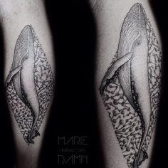 Amazing whale tattoo! #whale #whaletattoo