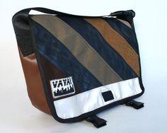 Vaya Bags Petite Bike Tube & Diagonal Stripe Messenger Bag by Vaya Bags   NYMB.co