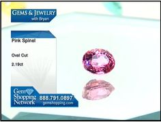 Bubble gum pink spinel available for sale at Gem Shopping Network