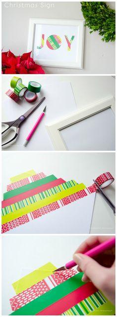 Craftaholics Anonymous® | Simple Joy Sign Tutorial #ScotchEXP: DIY art for christmas or any holiday