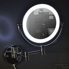 Decor Walther make-up spiegel BS 16 met LED verchroomd batterij ...