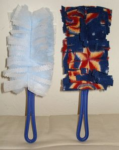 finishing off a fleece blanket | DIY reusable duster - Danielle is so lucky, ... | DIY Projects to Put ...