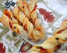 Aleda konyhája: Csavart pikáns rudacskák