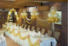 lugar para casamento em tons de marrom, amarelo e branco