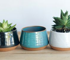 Handmade Ceramic Planters  Pottery Planters  by SoulVesselDesigns