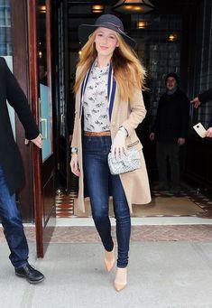 "blakelivelyupdates: "" Blake Lively leaving her hotel in New York City on February 19. """
