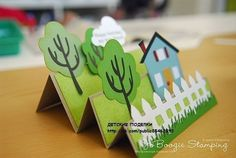 Pop-up Neighborhood card Fun Crafts, Diy And Crafts, Crafts For Kids, Paper Crafts, New Home Cards, Step Cards, Cricut Cards, Pop Up Cards, Kirigami