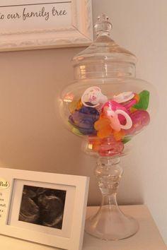 Nursery idea:Pacifier storage....Love this idea