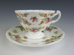 Hammersley DRESDEN SPRAYS Demittasse Cup & Saucer Set