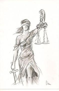 Lady Justice by Lize-Desmaricaux Mehr Globus Tattoos, Libra Sign Tattoos, Fallen Angel Tattoo, Spiritual Animal, Old School Tattoo Designs, Lady Justice, Illustration, Grafik Design, Beautiful Tattoos