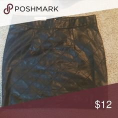 Black faux leather skirt Nwot size 4 Charlotte Russe Skirts Midi