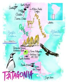 Patagonia map by Scott Jessop