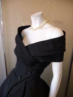 Black Prom Dress,Off The Shoulder Prom Dress,Bodice Prom