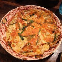 食ログ: チーズヒラヤチー。沖縄風チヂミらしい。モヤシの食感がうまかった。 - @mattyinstagram- #webstagram