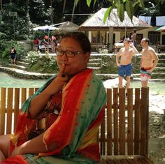 A or B?  Im just enjoying the view at #KawasanFalls  #exoticphblog #CebuKeepsMeGoing #Cebu #Philippines #travel #trip