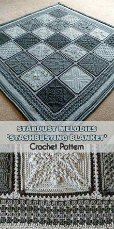 Stardust Melodies - ' Stashbusting Blanket ' [Crochet Pattern]